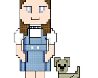 Dorothy and Toto - Wizard of Oz Cross Stitch Pattern **DIGITAL**