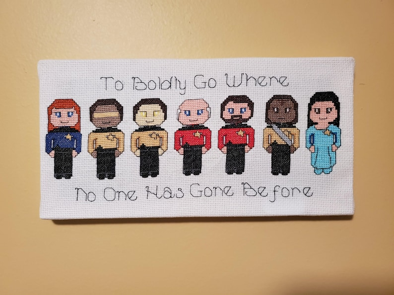 Boldly Go  Star Trek The Next Generation Canvases  FINISHED Group