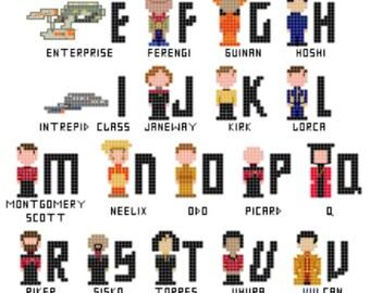 Star Trek Alphabet Sampler Cross Stitch - DIGITAL - **PATTERN ONLY**