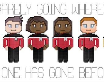 Star Trek: Lower Decks Crew Cross Stitch Pattern