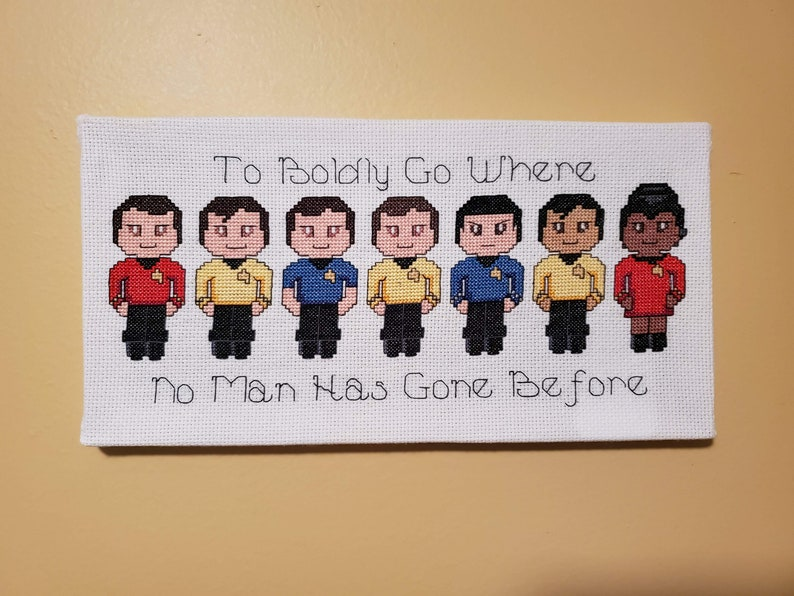 Boldly Go  Star Trek Canvases  FINISHED CANVAS-STYLE Group