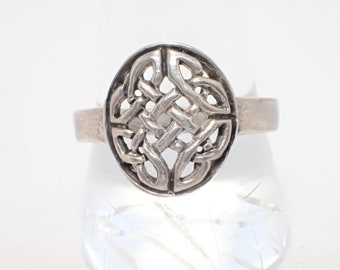 Sterling Silver Open Weave Celtic Knot Ring Size 9