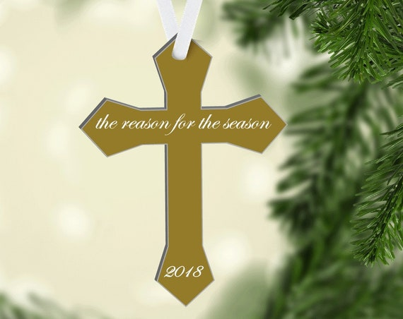 Christmas Ornament, Cross Tree Ornament, The Reason for the Season