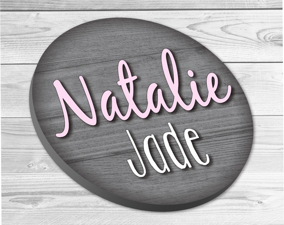 Circle Name Sign, Nursery Wall Decor, Nursery Wall Art, Nursery Name Sign, Wall Decor, Woodland Nursery, Baby Room Decor, Home Decor