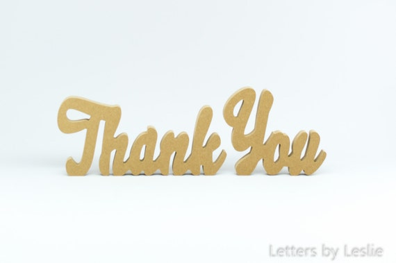 Wooden Thank You sign. Freestanding Thank You sign. Thank You Table Sign. Wedding Table Sign. Photo Prop