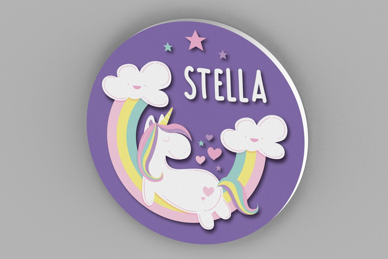 Unicorn Name Sign For Bedroom Nursery Decor Girls Room