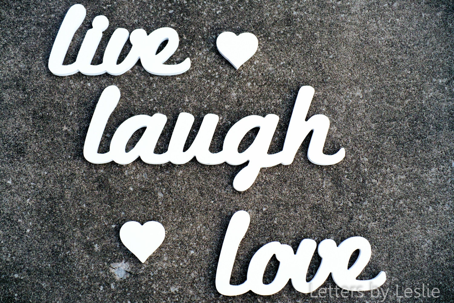 Wooden Wall Letters Words Live Laugh Love Decor