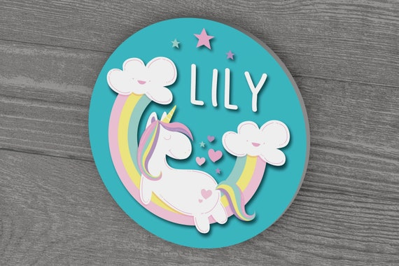 Personalized Unicorn Name Sign for Girls Room
