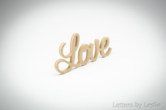 Love sign - Love letters - Un-painted letters - Wall hanging letters