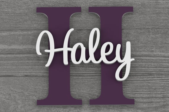 Nursery Name Sign, Nursery Decor, Custom Name, Nursery Wall Decor, Baby Name Sign, Girl Nursery, Personalized Letters, Wall Art, Baby Gift