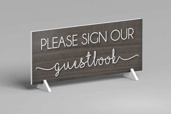 Please Sign Our Guestbook Wedding Sign, Guestbook Sign, Wedding Reception Sign, Wedding Table Sign