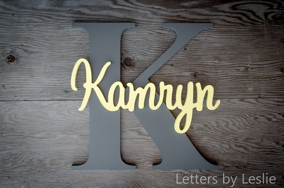 Large - Wood Letters, Wooden Letters, Wood sign, Name signs, Custom made signs, Wall Art, Wall hanging sign, Personalized Nursery Wall Art