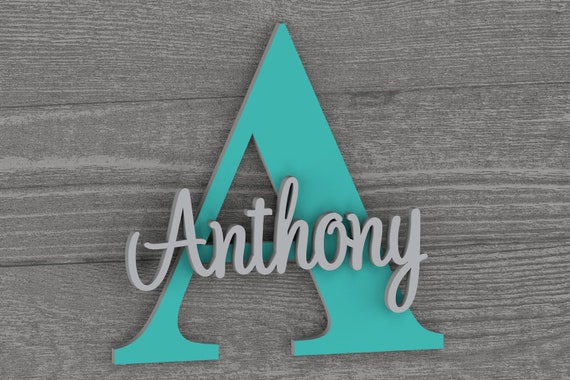 Large - Nursery Name Sign, Nursery Decor, Nursery Wall Art, Nursery Decor For Boys, Wall Decor, Personalized Sign, Nursery Art, Name Sign