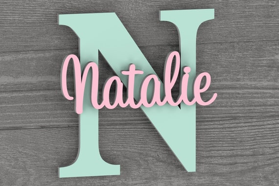 Nursery Wall Art, Nursery Name Sign, Nursery Decor, Home Decor, Wall Decor, Baby Shower Gift, Personalized Sign, Nursery Letters, Baby Girl