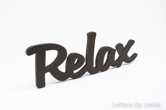 Wooden wall word Relax. Relax wooden wall sign, Lettering, Word Art, Wood Sign, Wood Letters, Relax Sign, Word Cutout, Wood Words
