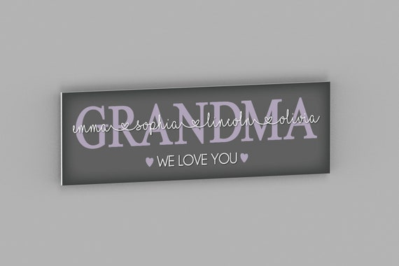 Personalized Mother's Day Gift, Grandma Gift From Kids, Mothers Day Gift for Grandma, Grandma Gift Idea, Grandma Sign