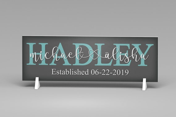 Wedding Gift for the Couple, Family Name Sign, Wedding Gift, Bridal Shower Gift,Established Sign, Family Sign, Name Sign