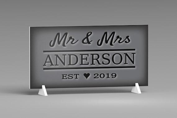 Personalized Wedding Gift For Couple, Established Wedding Sign, Mr & Mrs Wedding Sign, Bridal Shower Gift, Wedding Plaque, Wedding Decor