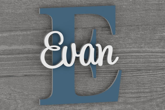 Large Baby Name Sign, Wall Letters for Boy and Girl Nursery, Nursery Decor, Gift for Baby