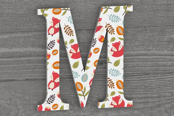 Woodland Nursery Decor, Nursery Letters, Woodland Theme Nursery, Wall Letters, Wall Hanging, Initials, Name Sign,