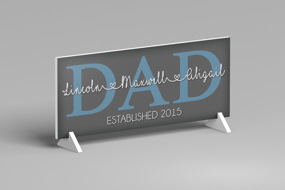 Personalized Fathers Day Gift, Dad Gift From Kids, Dad Gift Idea, Dad Sign