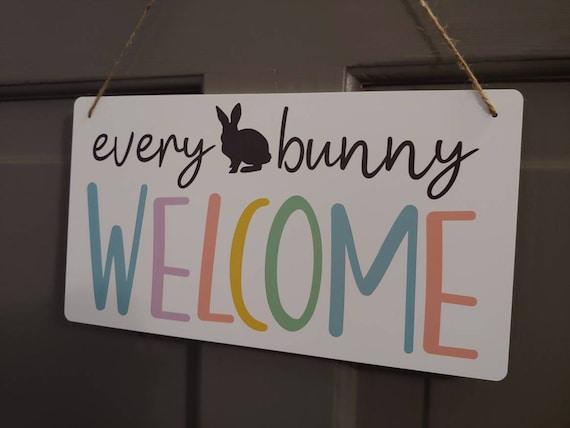 Easter Front Door Sign, Easter Door Hanger, Welcome Sign, Door Decor, Wall Sign, Easter Home Decor,  Spring Decor