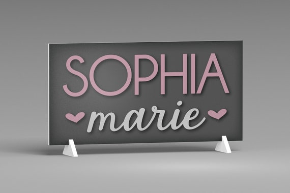 Free-Standing Name Sign, Nursery Decor for Girls, Personalized Name Sign, Baby Name Sign, Personalized Letters, Shelf decor