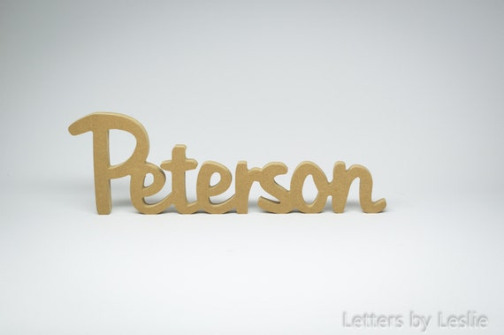 Personalized Wooden Family Name Signs. Family Last Name Wall Sign. Unfinished - Unpainted