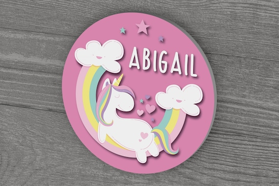 Personalized Unicorn Name Sign for Girls Room Decor