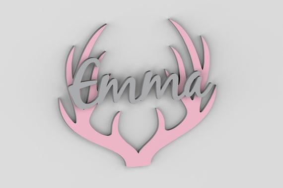 Nursery Decor, Nursery Wall Art, Antlers, Deer, Nursery Letters, Woodland Nursery, Farmhouse Decor, Baby Girl, Nursery Name Sign, Rustic