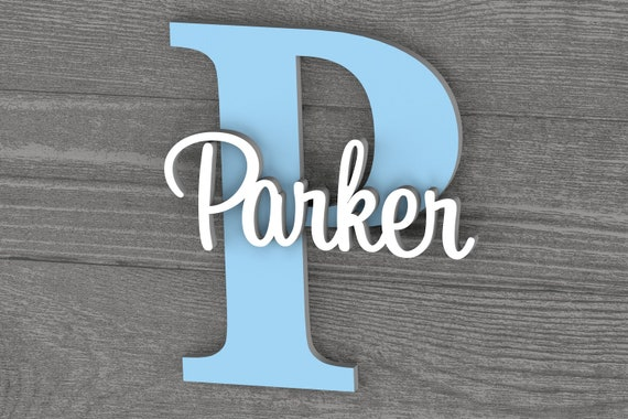 Large Nursery Name Sign, Nursery Wall Art, Baby Name Sign, Home Decor, Baby Gift, Baby Shower Gift, Nursery Letters, Wall Letters