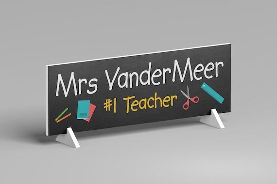 Personalized Teacher Gift, Teacher Desk Name Plate, End of Year Teacher Gift, Teacher Appreciation Gift