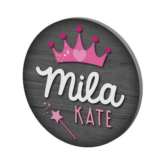 Personalized Princess Name Sign for Girls Room Decor