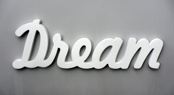 Superb Wooden Inspirational Wall Word Dream Wall Decor Bedroom