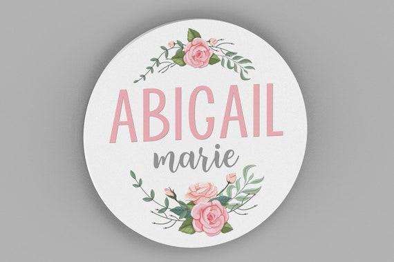 Nursery Name Sign, Floral Nursery Decor, Nursery Wall Art, Baby Girl Nursery