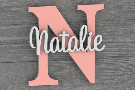 Nursery Name Sign, Nursery Decor, Nursery Letters,  Wall Art, Wall Decor, Bedroom Wall Decor, Kids Room Decor, Letters, Home Decor