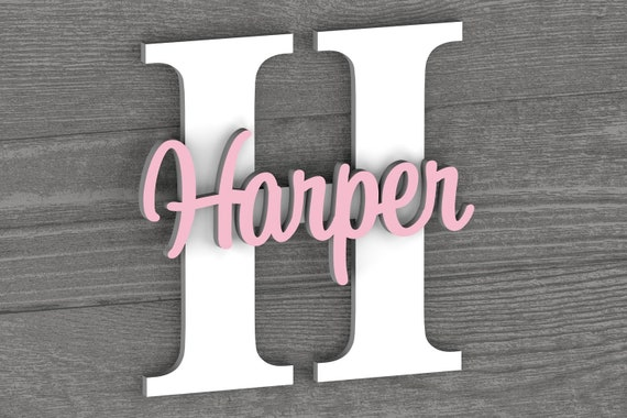 Large - Nursery Name Sign Capital Letter, Nursery Wall Art, Nursery Decor, Nursery Letters, Lettering, Home Decor, Wall Decor, Baby Gift