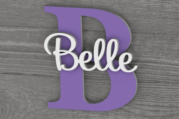Large Personalized Name Sign for Nursery Decor