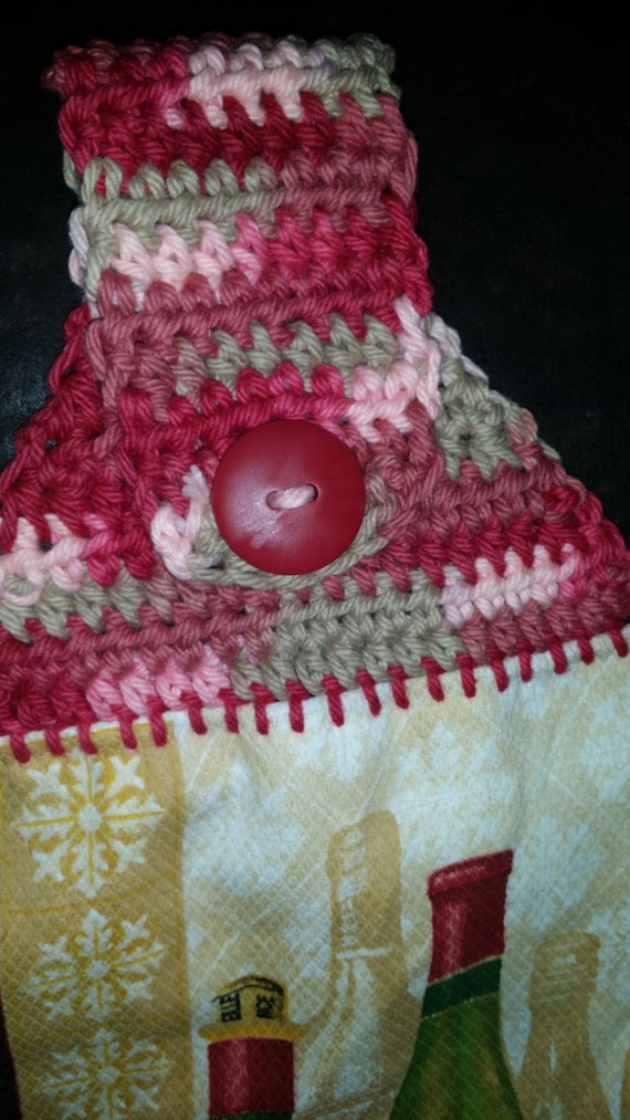 Pattern For Crocheted Towel Topper Etsy