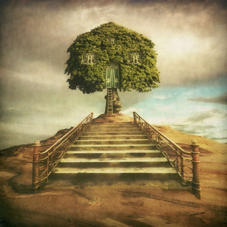 TREE CASTLE Surreal Earth Photograph Signed Ltd Edition Color image 0