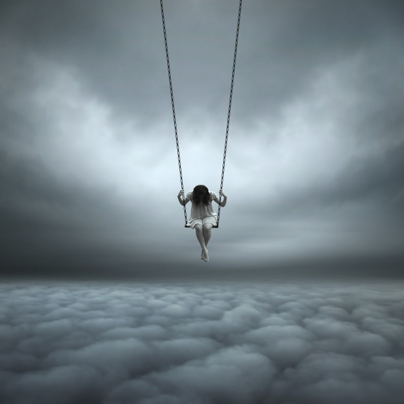 GIRL on a SWING CONTEMPORARY Fine Art Photograph Signed Ltd image 0