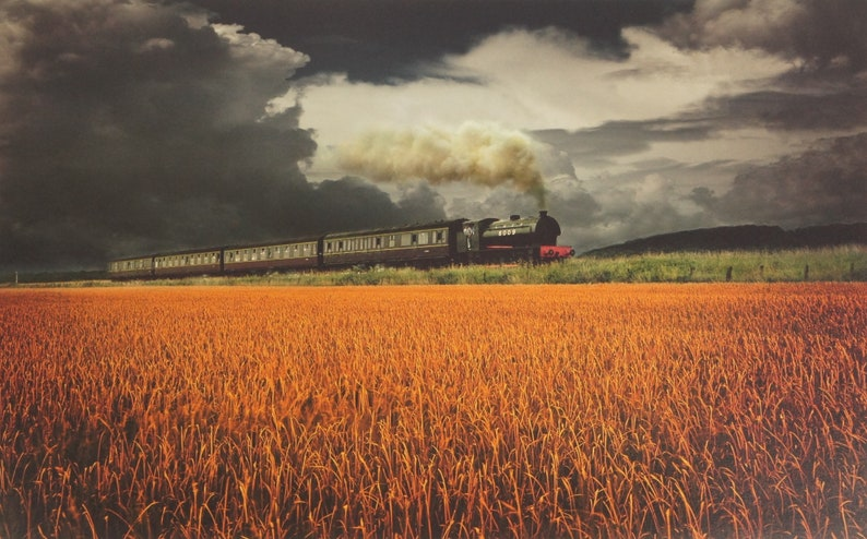 DOMINIC ROUSE  Vintage UK Steam Train Locomotive Signed image 0