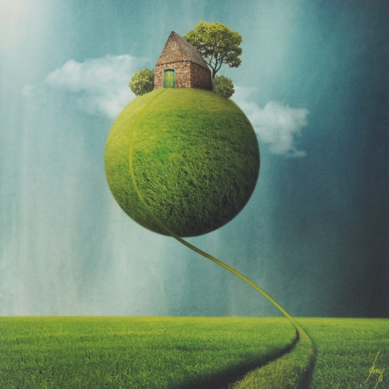 GREEN GLOBAL VISIONS Surreal Earth Photograph Signed Ltd image 0