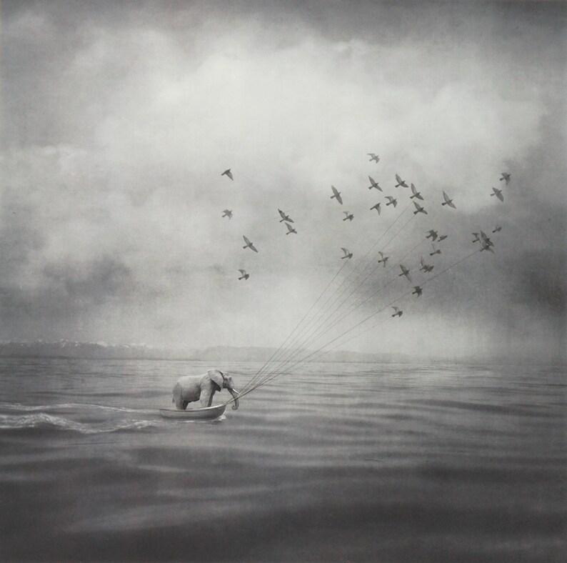 ELEPHANT AHOY Surreal Boating Photograph Signed Ltd Edition image 0