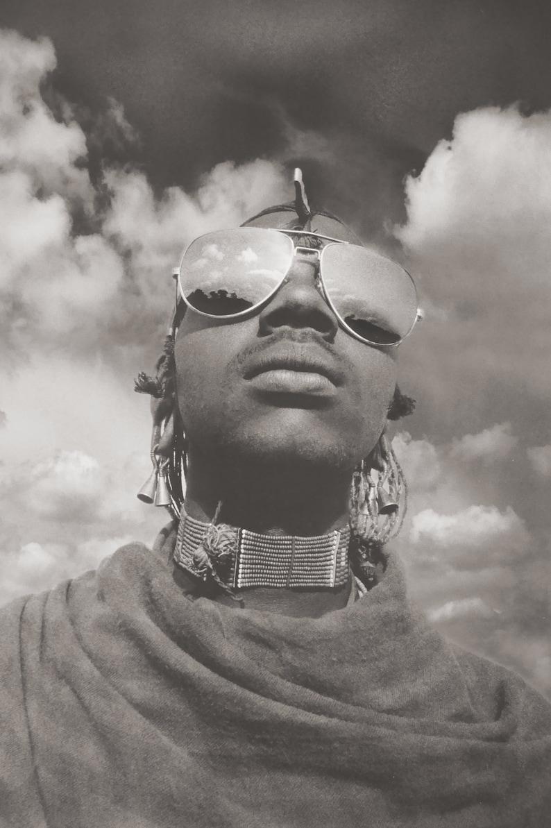 MASAI WARRIOR Portrait Photography Tanzania Africa Signed Ltd image 0