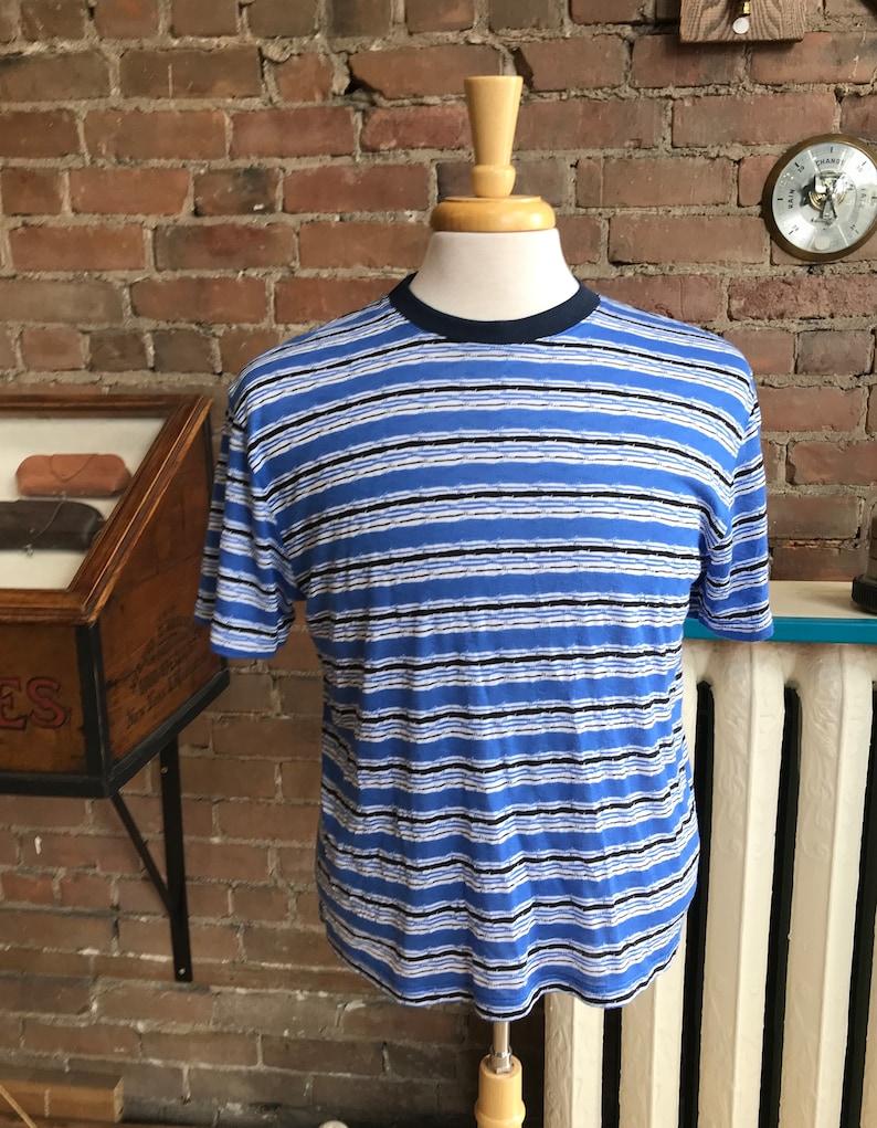 1950s Mens Shirts | Retro Bowling Shirts, Vintage Hawaiian Shirts Striped T-shirts Vintage look / FREE SHIPPING $53.00 AT vintagedancer.com