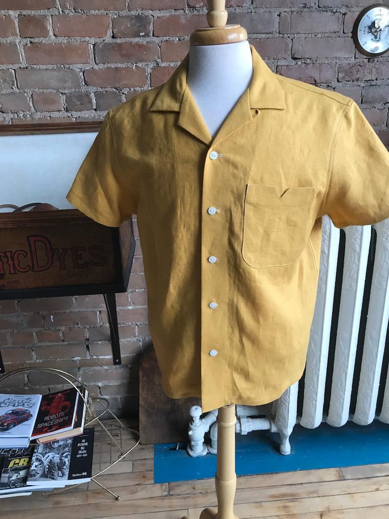 1940s Men's Clothing Open collar shirt camp collar short sleeves / FREE SHIPPING $115.00 AT vintagedancer.com