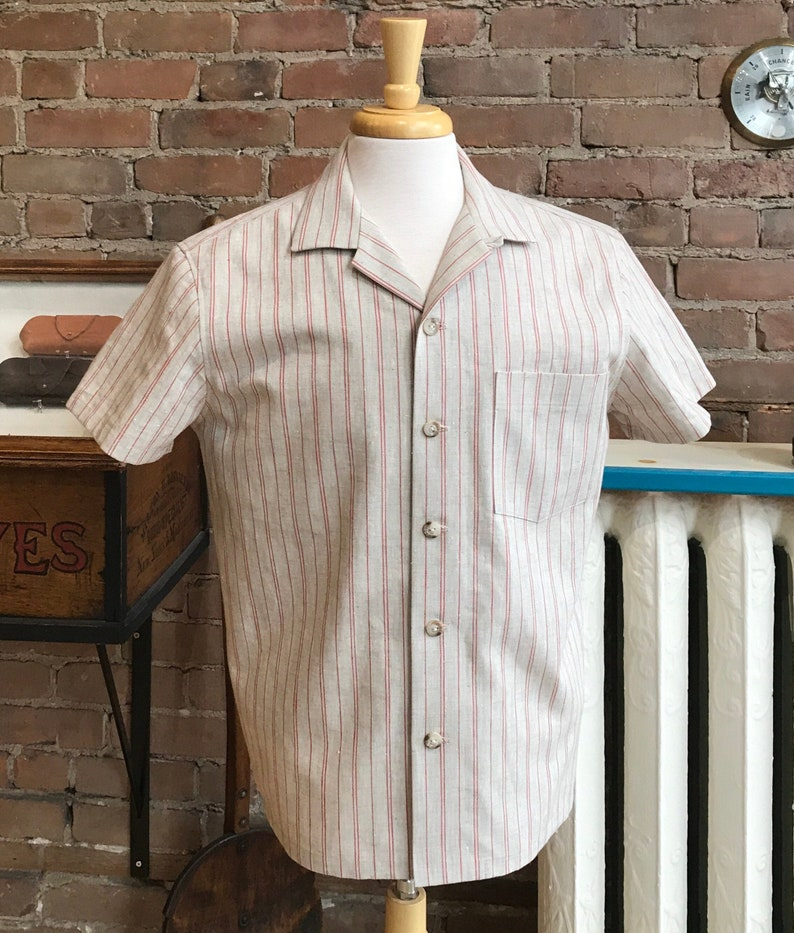 Mens Vintage Shirts – Casual, Dress, T-shirts, Polos Open collar shirt camp collar short sleeves / FREE SHIPPING $115.00 AT vintagedancer.com