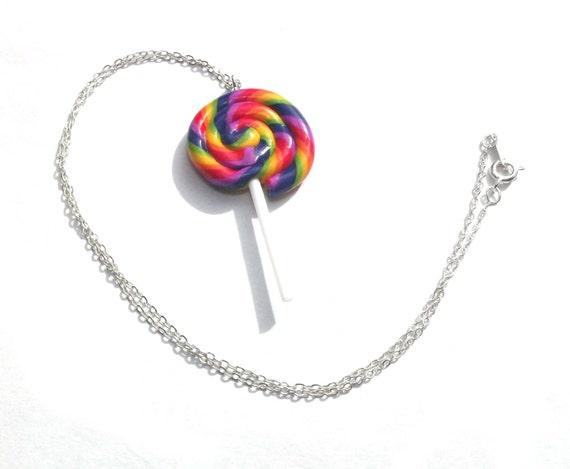 Polymer Clay Mini Drumstick Lolly sweet Keyring Kitsch Retro Food Key Chain