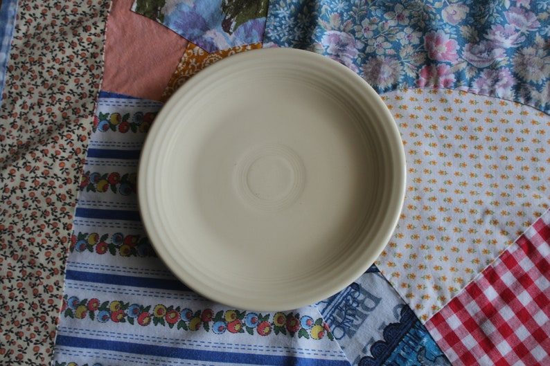 Vintage Fiesta ivory color small plate